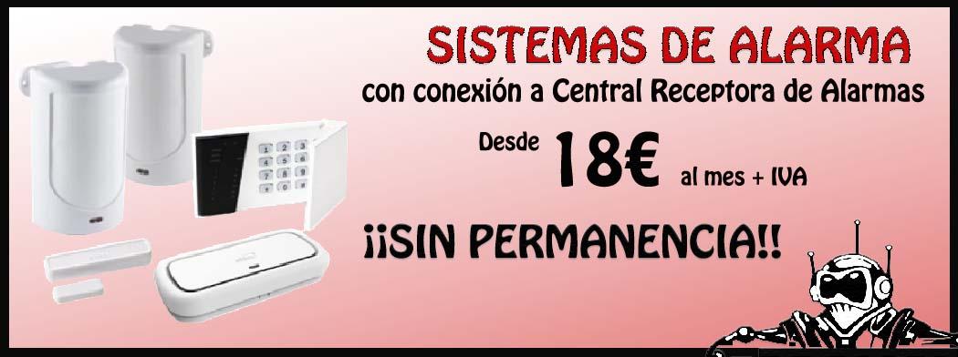 Promoción Sistemas de Alarma desde 18€ al mes