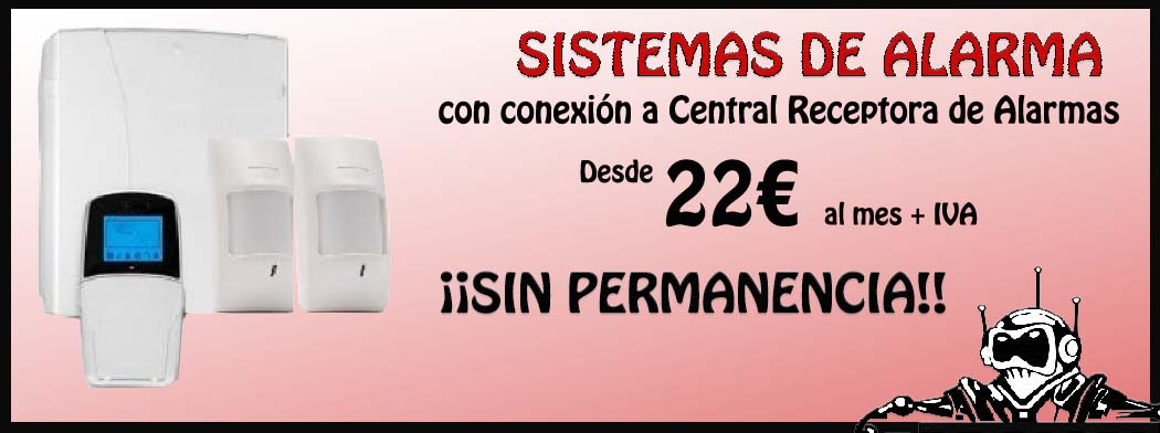 Promoción Sistemas de Alarma desde 22€ al mes