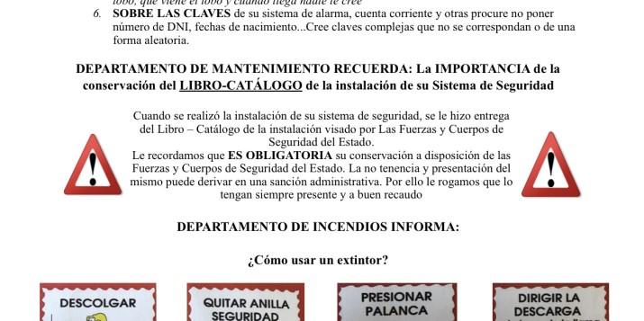 BOLETÍN INFORMATIVO DE SEGURIDAD