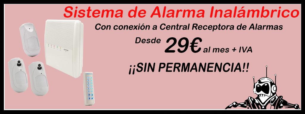 Promoción Sistemas de Alarma inalámbrico desde 29€ al mes